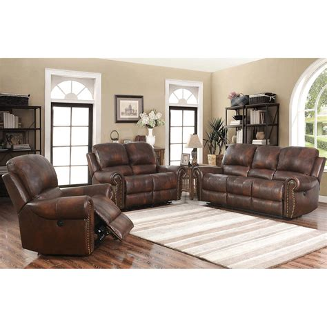 amado 3 reclining living room set westmont 3 top grain leather power reclining living