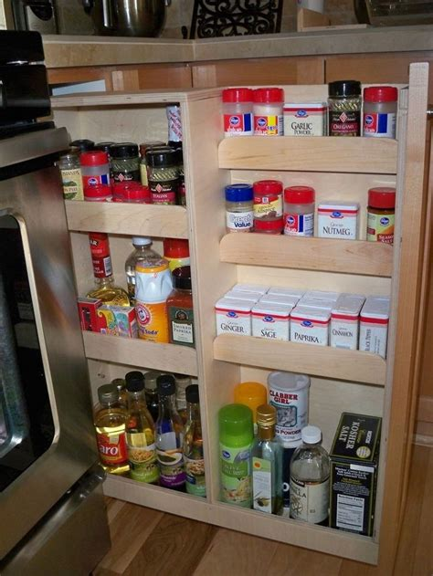 narrow pull out pantry cabinet narrow spice rack cabinet roselawnlutheran