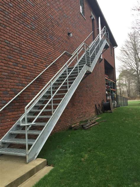 exterior steel stairs steel metal stair railing ladder