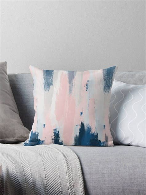 Cushion Cover Blush Navy Series abstract throw pillow cover blush pink and navy blue