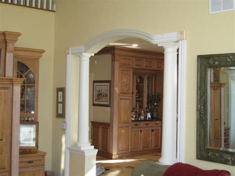 door surrounds traditional family room new york by