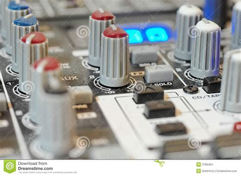 Soundboard Knobs by Audio Mixer Board Knobs Stock Images Image 3766404