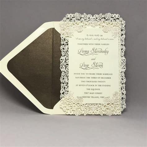 Custom Wedding, Bar Mitzvah and Bat Mitzvah Invitations