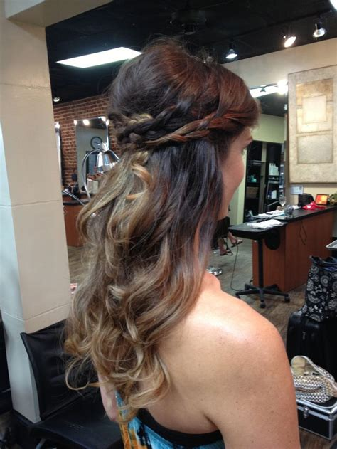 wedding hairstyles half up half down plaits bohemian but elegant bride half up half down braids and