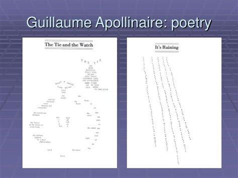 apollinaire guillaume graphic design history the red list apollinaire poems ppt guillaume apollinaire powerpoint