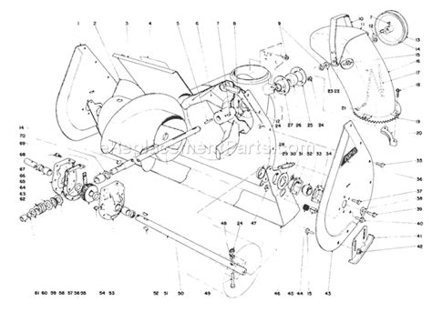 toro snowblower parts diagram toro 38040 parts list and diagram 1000001 1999999 1981
