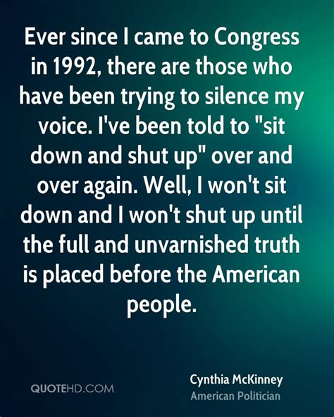 I Voices In My Specificly There Are T by Cynthia Mckinney Quotes Quotehd