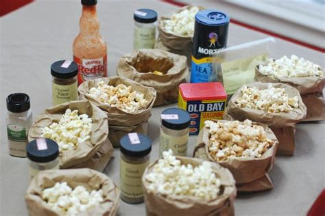 popcorn bar toppings lots of popcorn topping ideas food for the wild indians