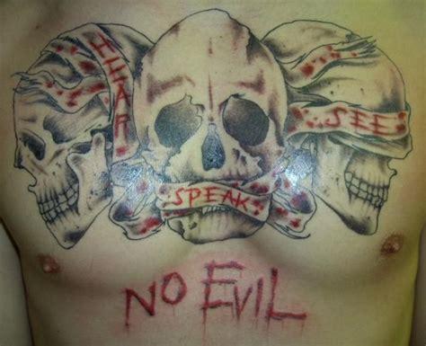 evil tattoo designs for men 39 best see no evil designs for images on