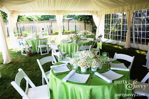 backyard wedding shower partysavvy