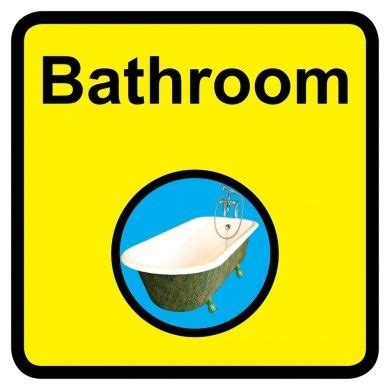 bathroom signages bathroom sign 300mm x 300mm toilet bathroom signage