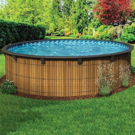 wooden pools wood  ground swimming pools home