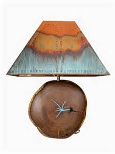 mesquite with turquoise and copper l shade santa fe