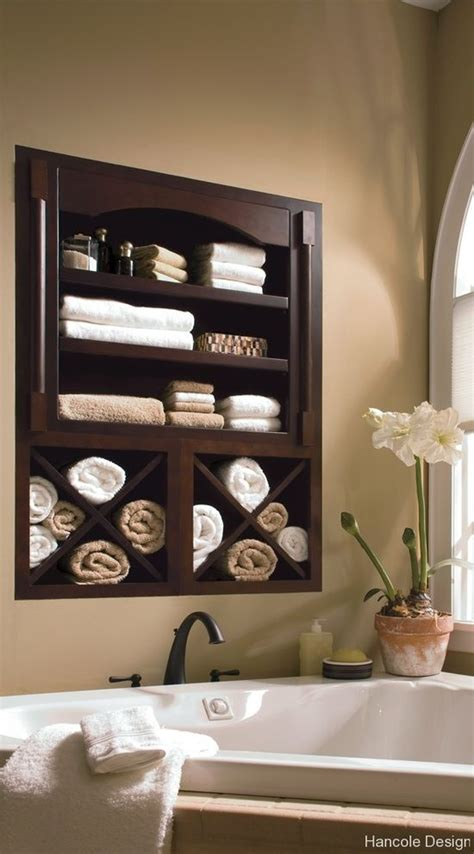 storing towels in the bathroom 29 best in wall storage ideas to save your space shelterness