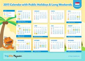 Calendar 2018 Singapore With Holidays 10 Weekends In Singapore In 2017 Bonus Planner