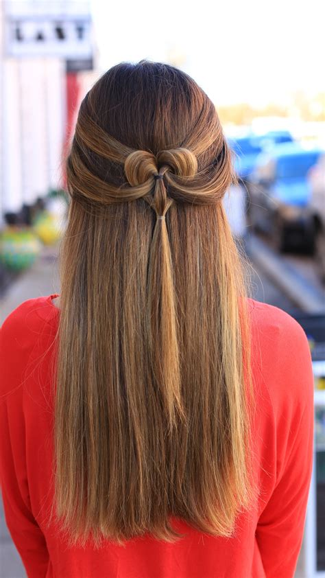 the pancaked heart cute girls hairstyles