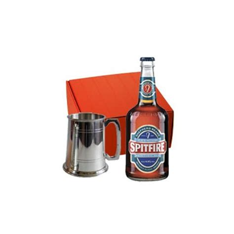 havens beer drinking gift boxed set 1pt pewter tankard