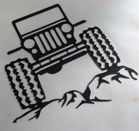 jeep metal art 14 guage plasma cut jeep metal wall art picture of man