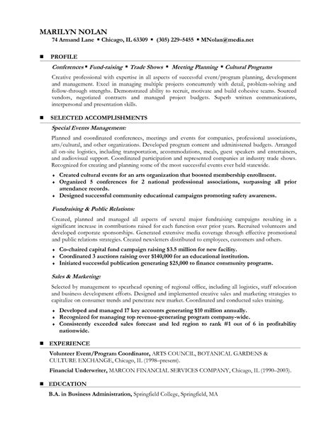 Sample Resume For A Career Change   Resume Ideas