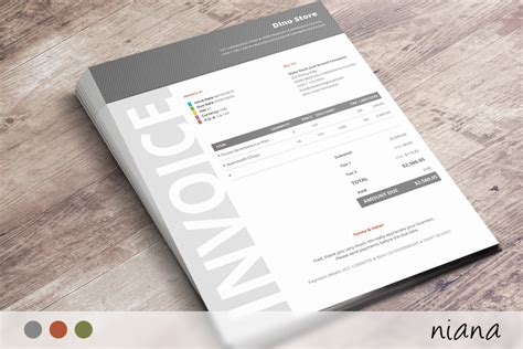 corporate design invoice commercial business invoice niana