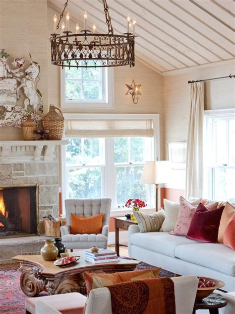 idea accents tis autumn living room fall decor ideas