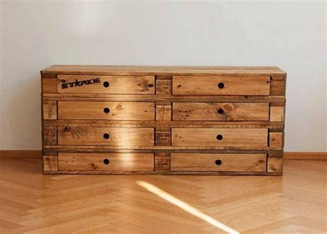 How To Make A Wooden Dresser by Wooden Pallet Dressers With Drawers Pallet Wood Projects
