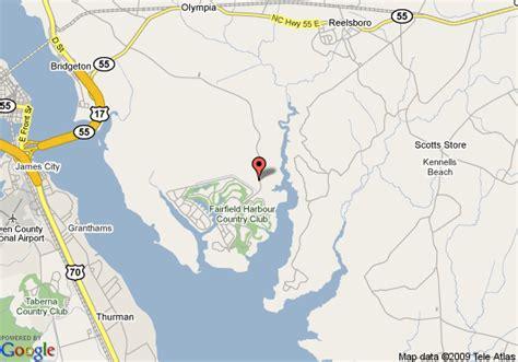 new bern carolina map map of fairfield harbour resort new bern