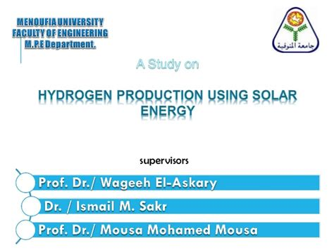 using solar power hydrogen production using solar energy pv cell