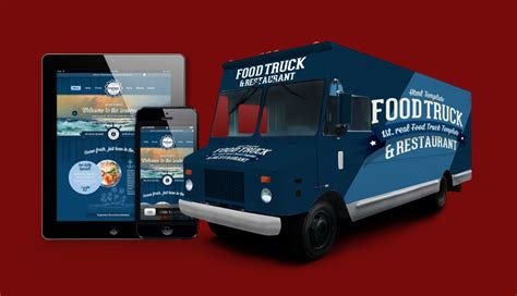 food truck design template wordpress foodtruck 1st real food truck template