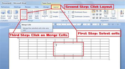 october 29 how to merge cells from table in ms word