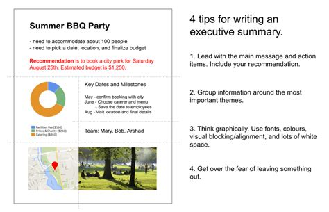 Four Tips For Writing An Executive Summary That Will Actually Get Read Klipfolio Com Executive Summary Template Startup
