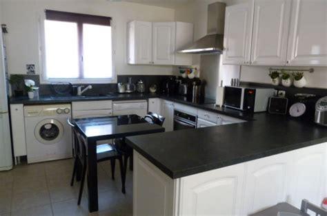 cuisine noir blanc cuisine blanche noir inox 10 photos smarti26