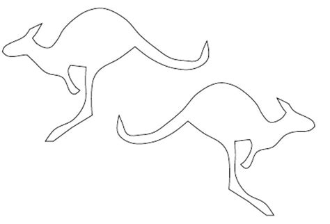 printable kangaroo template kangaroo outline cliparts co