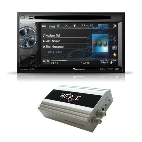 Tv Tuner Pioneer avh 1400dvd din av system with dvb 100 digital tv