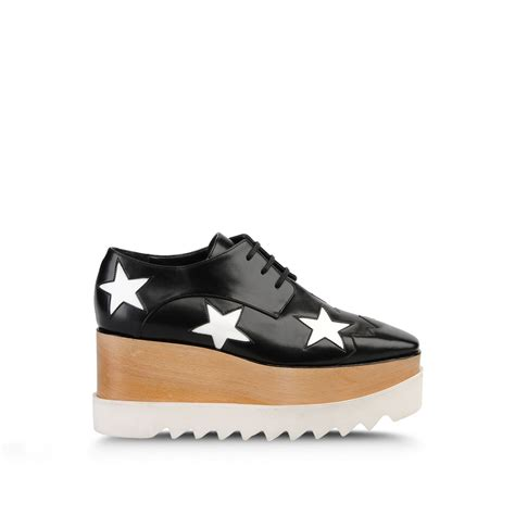 stella mccartney sneakers stella mccartney elyse shoes in black concrete lyst