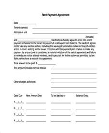 Rent Payment Agreement Template Agreement Forms In Pdf