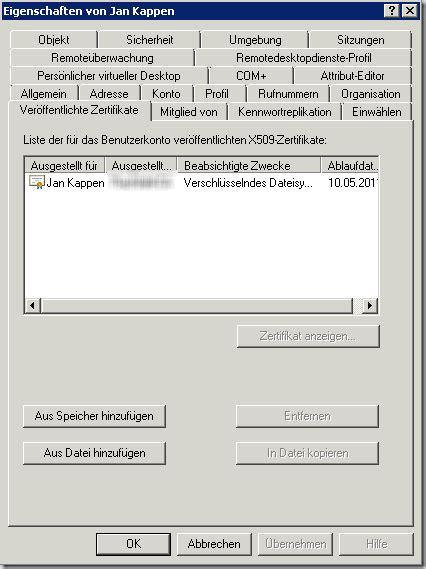 aendern einer zertifikats vorlage einer windows server