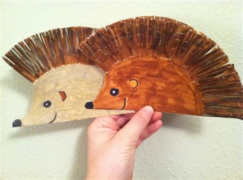 hedgehog paper plate craft paper hedgehogs great for