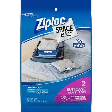 ziploc 22 5 in h x 18 in w plastic suitcase travel space
