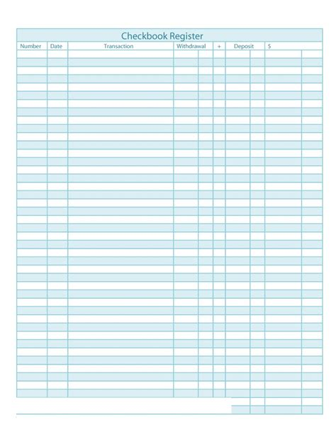 checkbook register template 37 checkbook register templates 100 free printable