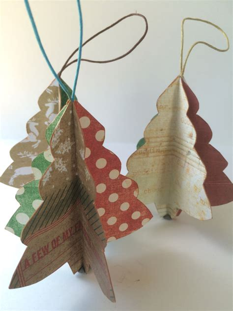Handmade Paper Ornaments - tree ornament folded paper handmade ornament