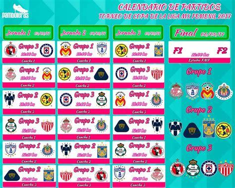 Calendario Liga Mx Femenil Calendario Torneo De Copa De La Liga Mx Femenil