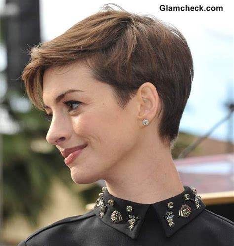 pinning back a pixie short pixie hairstyles anne hathaway pixie hairstyles