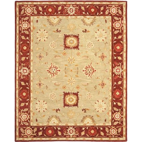 burgundy area rugs 8 x 10 safavieh anatolia burgundy 8 ft x 10 ft area rug an556a 8 the home depot