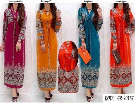Gamis Katun Batik Gr 90328 Maxi Dress Katun Jakarta Www Outletbusanamuslim