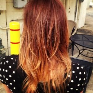 aline ombre red ombre