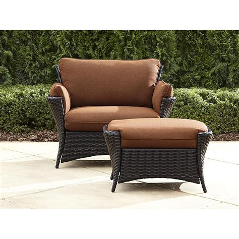 outdoor patio chairs with ottomans la z boy outdoor deve 2pc everett oversized chair with