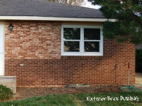 stained brick house brick staining new house ideas pinterest