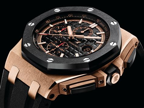 Jam Tangan Pria Audemars Piguet Royal Oak Roo Rosegold Black audemars piguet introduces facelifted royal oak offshore chronograph 44mm including