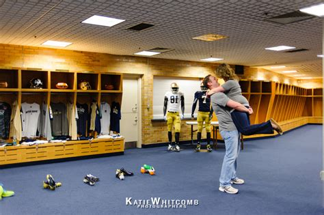 notre dame locker room emily are getting married 187 south bend wedding photographers